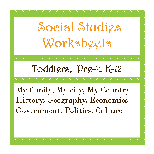 social studies worksheets button