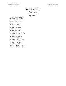 Math Worksheet decimals 2-7-page-001