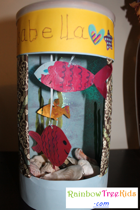 Oatmeal Container Aquarium Craft