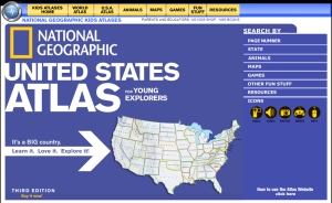 National Geographic kids atlas website